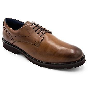 Padders Uppingham Mens Leather Wide (g Fit) Shoes Tan