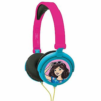 Lexibook Barbie stereo căști pliabile și reglabil-roz (HP010BB)