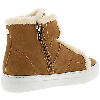DKNY Womens Mason Suede Faux Fur High Top Sneakers