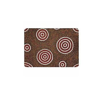 Water hole Dreaming Aboriginal design placemat mousepad