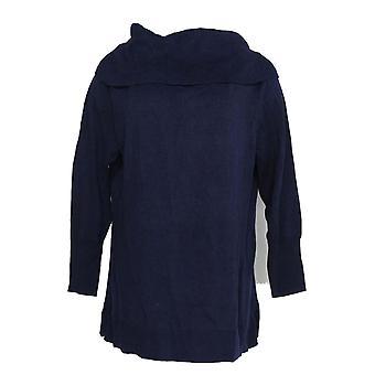 Isaac Mizrahi Live! Kvinner ' s genser konvertible kalde skulder blå A295899