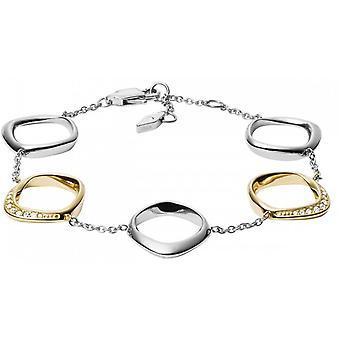 Fossil bracelet JF03201998 - CLASSICS Silver Crystals Transparents 16/5 - 2/5 cm Steel Women