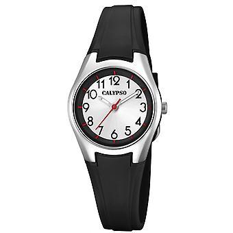 Show Calypso K5750-6 - SWEET TIME Bracelet Silicone black case aluminum woman