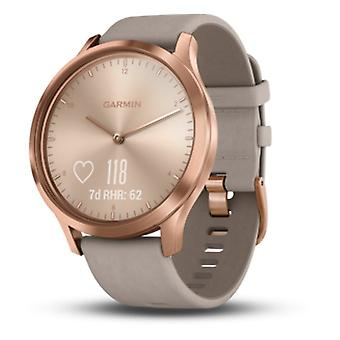 Garmin - Connected Watch - Smartwatch - vivomove HR Premium Roségold-Grau Leder - 010-01850-09