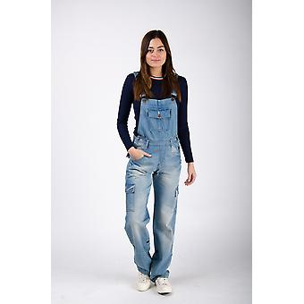 Daisy mujeres denim dungarees envejecido