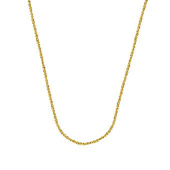 14k Yellow Gold 1.25mm Sparkle Singapore Chain Necklace Lobster Claw Closure Jewelry Gifts for Women - Length: 16 to 20