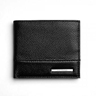 Ted Baker Bigspen Bombay Detail Leather Bifold Wallet Black