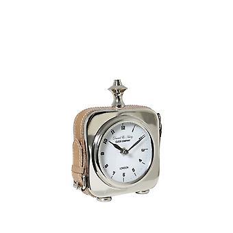 Light & Living Clock 12x4x19cm Daniel-Ashley Nickel Leather Brow