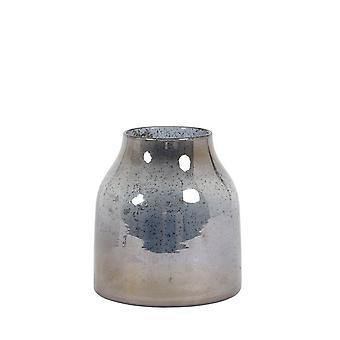 Light & Living Vase 18x21cm Sonala Glass Stone Finish Blue