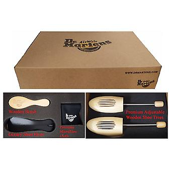 Dr Martens Boxed Luxury Shoe Care Kit (shoe Trees, Microfibre Cloth, Wooden Brush, Leather Shoe Horn)
