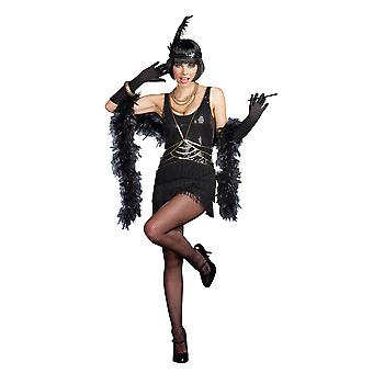 Flapper Deluxe Sequin 1920s Gangster Gatsby Charleston Adult Womens Costume