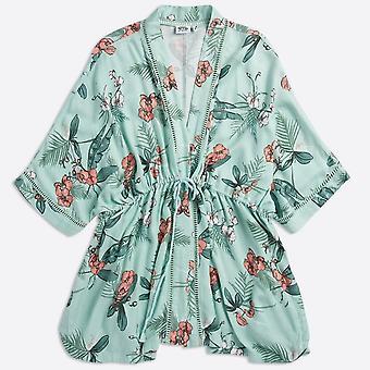Ropa de animales mujeres's kimchie kimono encubrir la neblina azul