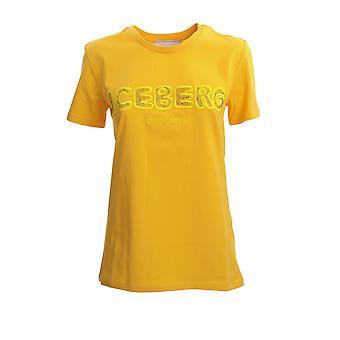 Iceberg F09263093331 Women's Yellow Cotton T-shirt