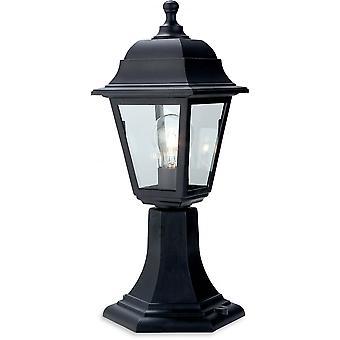 Firstlight Staid Traditional Black Pillar Top Coach Lantern