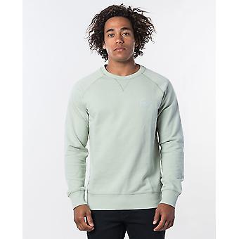 Rip Curl Men's Organic Cotton Fleece ~ Eco Craft Crew zeegras