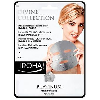 Iroha Nature Platinum Tissue Hydra-Glowing Face Mask 1 Unidad