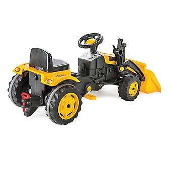 Pilsan Active Pedal Operated Tractor with Frontloader Yellow