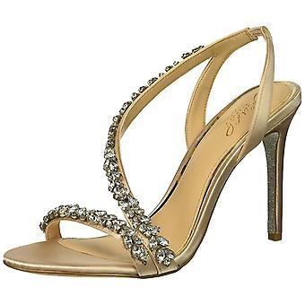 Jewel Badgley Mischka Femei&s JAVA Sandal, șampanie, 5.5 Mediu SUA
