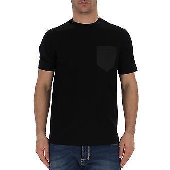 Prada Ujn5871uoqf0002 Herren's Schwarz Polyester T-shirt