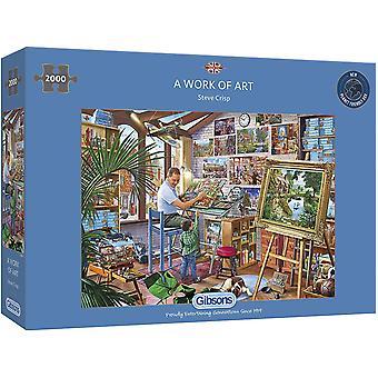 Gibsons A Work Of Art 2000 Piece Jigsaw Puzzle