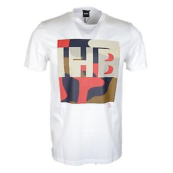 Hugo Boss Tiburt 161 Regular Fit Valkoinen T-paita
