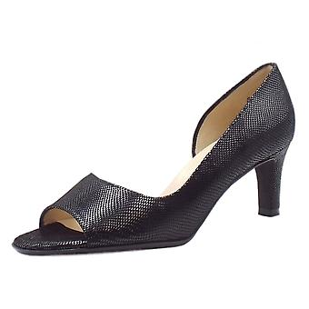Peter Kaiser Beate Stylish Open Toe Shoes In Black Sarto