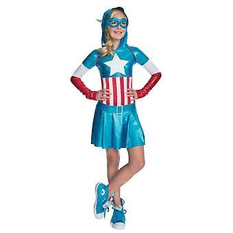 Captain America Hooded Kids Dress Costume