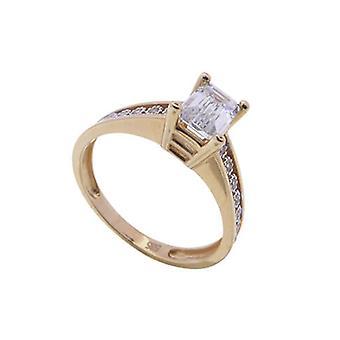 Rose gold Ring mit Swarovski Zirkonia