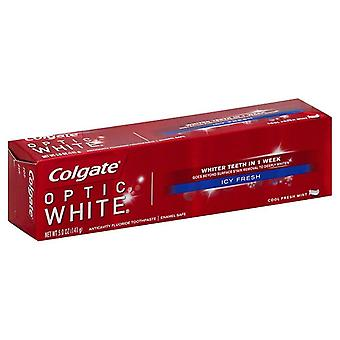 Colgate optic white anticavity fluoride toothpaste, icy fresh, 5 oz
