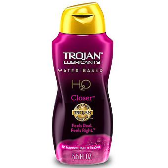 Trojan lubricants personal lubricant, h2o closer, 5.5 oz