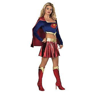 Supergirl Womens/Ladies Deluxe Costume
