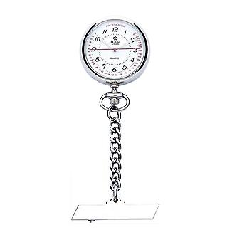 Royal London Stainless Steel Nurses Doctors Fob Watch on Chain 21019-01