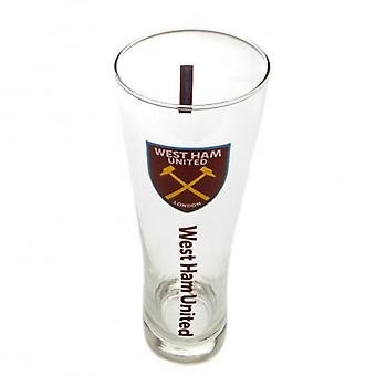 West Ham United Tall Beer Glass