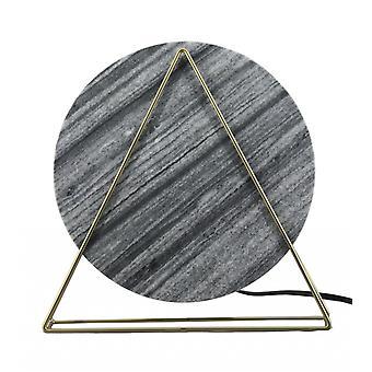Designer musta marmori ja messinki pöytävalaisin