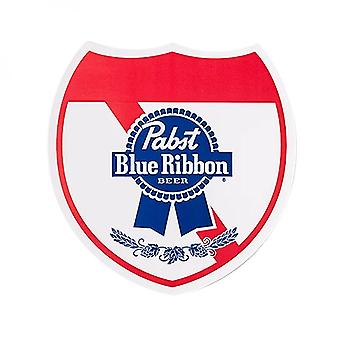 Pabst azul fita Beer Shield logo adesivo