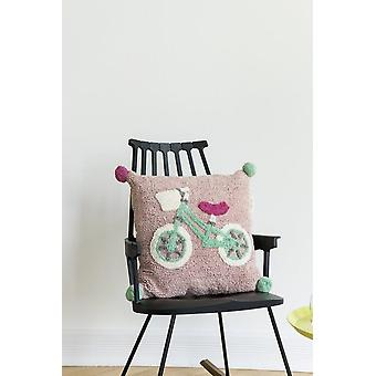 Baby dormitor pernă pătrat biciclete 50x50cm