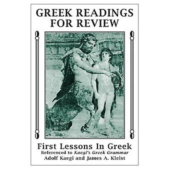 Greek Readings for Review: First Lessons in Greek