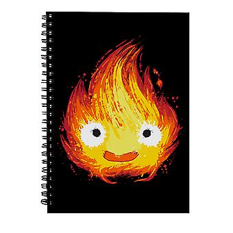 Howls Moving Castle Fire Demon Spiral Notebook