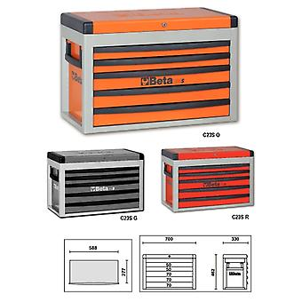Beta 023000502 C23/S-G Portable Tool Chest With Five Drawers - 588x277mm