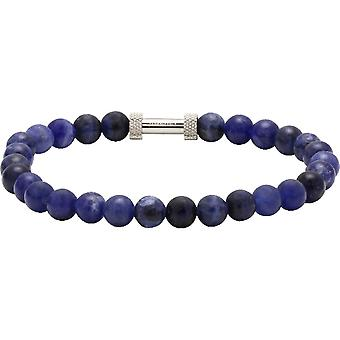 Rochet B266012 arm band-ZEN pärlor lapis lazuli stål Molet män