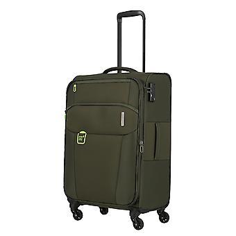 travelite Go Trolley M, 4 rollen, 66 cm, 58 L, groen
