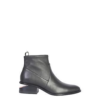 Alexander Wang 30c120b014001 Kvinnor's svarta läderkängor