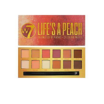 W7 Cosmetics Eye Colour Palette Set of 12 EyeShadows 9.6g Life's a Peach