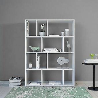 Libreria Aidan Color Bianco in Truciolare Melaminico 90x25x122 cm