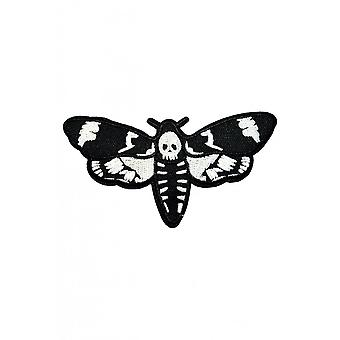 Attitude Clothing Deaths Head Moth Large Woven Patch