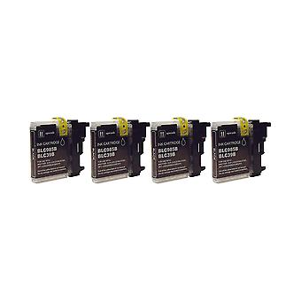 RudyTwos 4x Replacement for Brother LC-985BK Ink Unit Black Compatible with MFC-J220, J265W, J410, DCP-J125, J315W, J415W, J515W