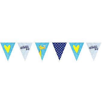 Amscan On Your Christening Day Blue Pennant Banner