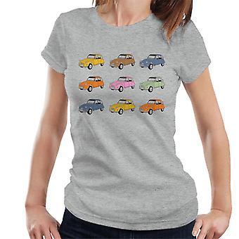 Citro n Vintage 2CV kleuren vrouwen ' s T-shirt