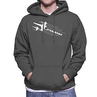 Star Wars X Wing Attack Silhouette Men's Hooded Sweatshirt