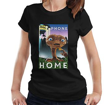 E.T. The Extra-Terrestrial Scene Phone Home Women's T-Shirt